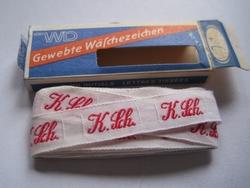 Initialen - Lint K.Sch.  Lint 1 cm breed