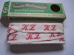 Initialen - Lint K.Z.  Lint 1 cm breed