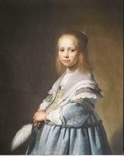 Portret van een meisje in blauw Johannes Verspronck  100 x 70 x 2,5