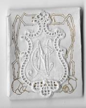 6 Monogrammen C.N.  4,5 x 2,5 cm