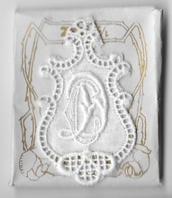 6 Monogrammen C.D.  4,5 x 2,5 cm