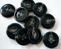 Kostuumknoop - donkergrijs/zwart  14 mm