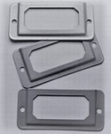 1 Labelhouders € 0,40  32 x 67 mm