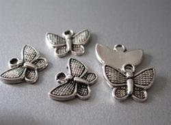 Tibetan Silver Butterfly  10 x 13 mm