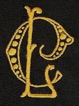 Monogram C.L.  4 x 3 cm
