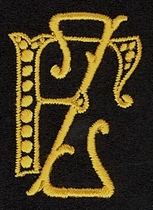 Monogram F.Z.  4 x 3 cm