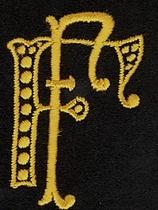 Monogram F.F.  4 x 3 cm