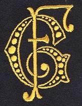 Monogram G.F..  4 x 3 cm