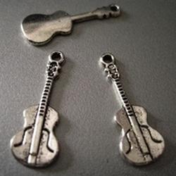 Tibetan silver guitar  27 mm