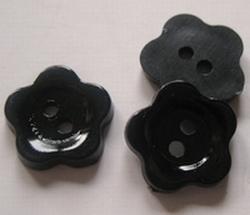 Bloem - knoop - zwart  12 mm