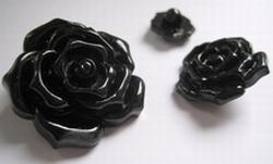 Bloem - Knoop / zwart  17 mm