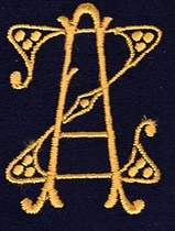 Monogram Z.A.  4 x 3 cm