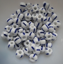 Beads - glass ( 20 gram )  5-8 mm