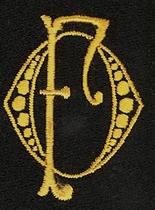 Monogram O.F.  4 x 3 cm