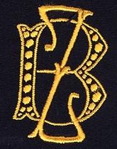 Monogram B.Z.  4 x 3 cm