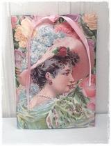 Geurzakje - Dame Hoed Roses 17,5 x 11,5 cm