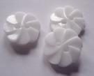 Bloem - knoop - wit 12 mm