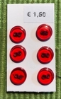R - 6  buttons 8 mm