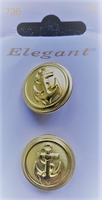 2 Buttons - Elegant 23 mm