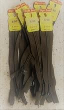 1 Rits - donkerbruin 12 cm