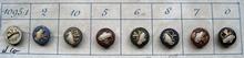 8 Antique Knöpfe 9 mm