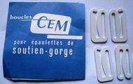 Sluitingen  voor schouderbandjes 25 x 12 mm