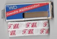 Initialen - Lint F.Sch. Lint 1 cm breed