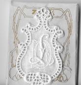 6 Monogrammen - D.L. 4,5 x 2,5 cm