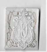 6 Monogrammen K.U. 4,5 x 2,5 cm