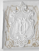 6 Monogrammen D.U. 4,5 x 2,5 cm