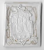 6 Monogrammen R.U. 4,5 x 2,5 cm