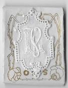 6 Monogrammen L.V. 4,5 x 2,5 cm