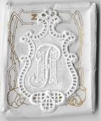 5 Monogrammen H.P. 4,5 x 2,5 cm