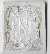6 Monogrammen N.N. 4,5 x 2,5 cm