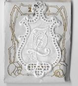 6 Monogrammen P.Z. 4,5 x 2,5 cm
