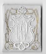 6 Monogrammen P.W. 4,5 x 2,5 cm
