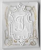 6 Monogrammen L.J. 4,5 x 2,5 cm