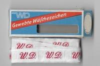 Initialen - Lint W.D. Lint 1 cm breed