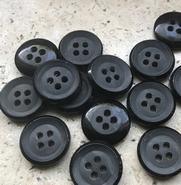 Kostuumknoop - zwart 14 mm
