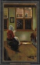 Lesende Frau 14 x 9 cm