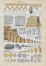 Orgineel blad uit Larouse - Zeilschip 28 x 18 cm
