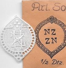 6 Monogrammen - N.Z.- Z.N. 29 x 24 mm