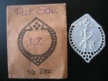 6 Monogrammen - C.E. - E.C. 29 x 24 mm
