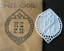6 Monogrammen - H.Z. - Z.H. 29 x 24 mm