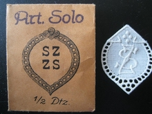 6 Monogrammen - D.U. - U.D. 29 x 24 mm
