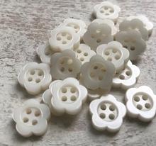 Bloemknoopje - wit 11 mm
