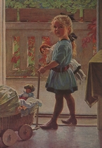 Het poppenmoedertje 15 x 10,5 cm