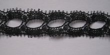 1 Meter Lace - black 15 mm