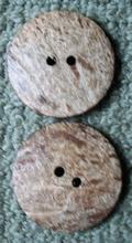 H  - 2 Kokosnootknopen 44 mm