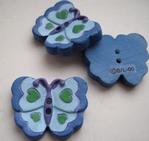 Vlinder - blauw 21 mm